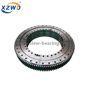 Single Row Four Point Contact Ball Slewing Bearing with External Gear for Ladle Turret (Q)