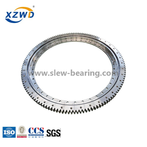 Light flanged with external gear slewing ring baring for trailer